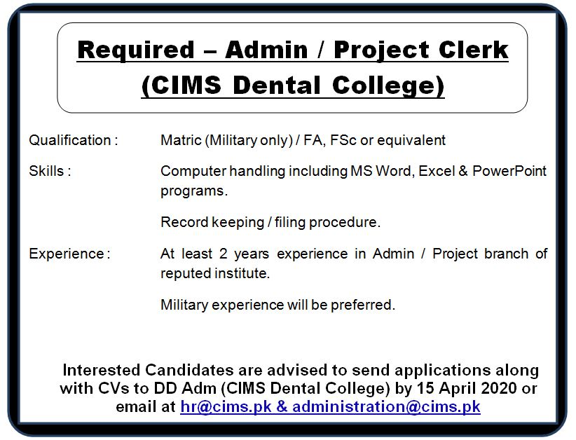 Clert Add for Dental College
